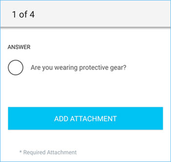 Acknowledgement question in the ServiceChannel Provider mobile app