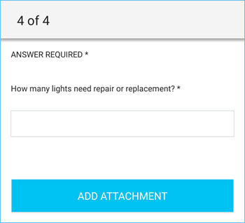 Numeric Input question in the ServiceChannel Provider mobile app