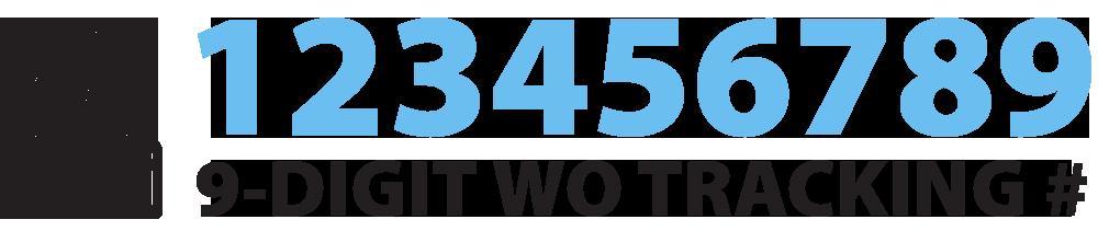 Nine-digit work order tracking number